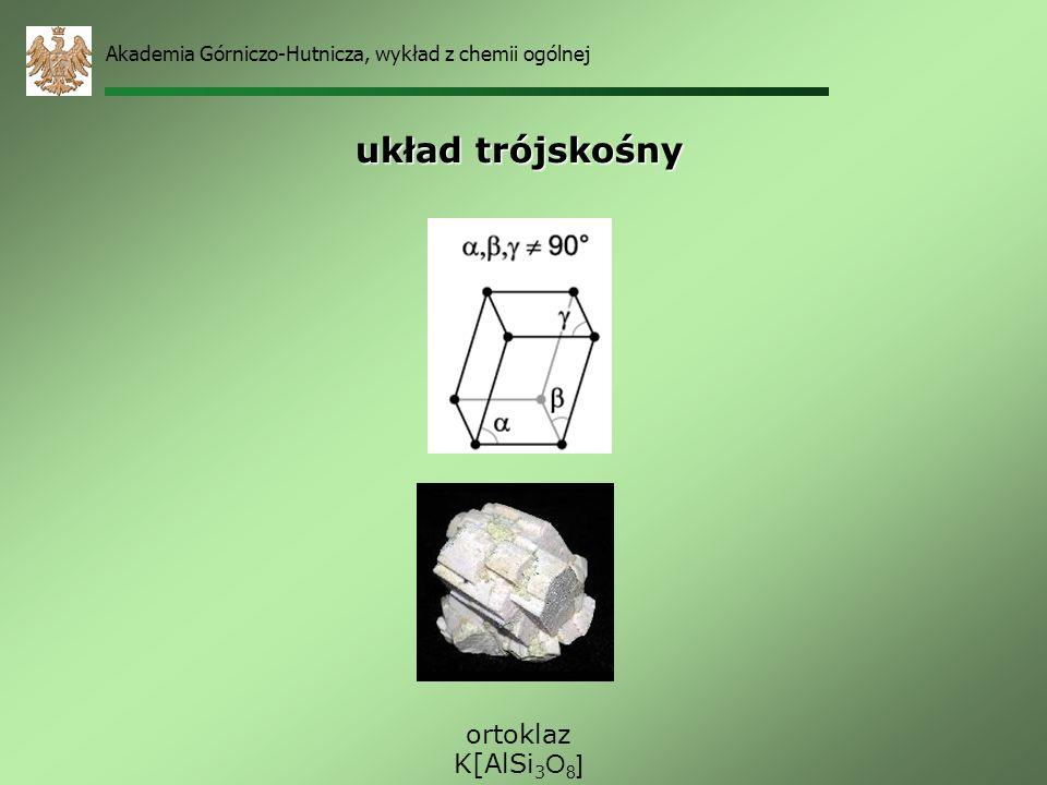 układ trójskośny ortoklaz K[AlSi3O8]